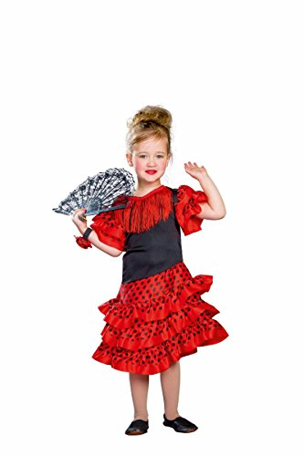 Festartikel Moller Kinder Kostüm Spanierin Flamenco Karneval Fasching Gr.98/116 (Flamenco Kostüm Kind)