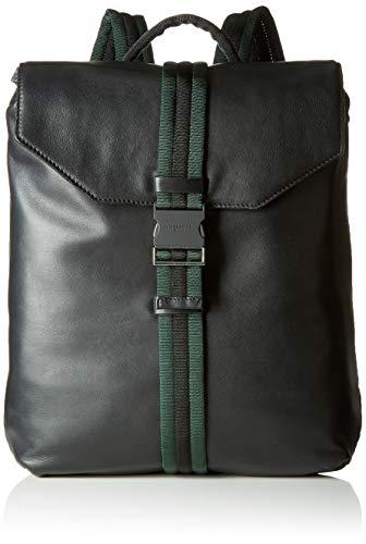 Liebeskind Berlin Damen Soft Messenger Backpack Medium Rucksackhandtasche, Schwarz (Black), 11.0x36.0x33.0 cm -
