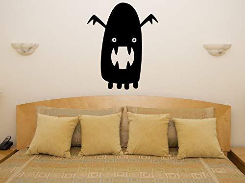JXYY Einfach Abnehmbare Vinyl Aufkleber Ghost Halloween Wandaufkleber Abziehbild Party Dekoration Festival Schaufenster Glas Decor 56x69 cm (Halloween-vinyl-abziehbilder Glas Für)