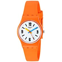 Swatch Womens Analogue Quartz Watch with Silicone Strap LO114