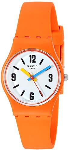 Swatch Orologio Analogueico Quarzo Donna con Cinturino in Silicone LO114