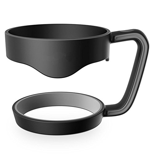 Mittelkonsole Montage (Lanlan Becher BPA frei Edelstahl Tassen Halter für Yeti Neu tragbar Hand 30Oz Schwarz)