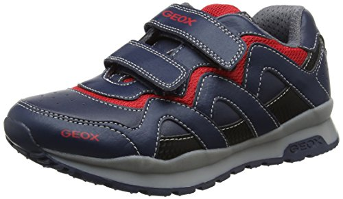 Geox Jungen J Pavel A Sneaker, Blau (Navy/Red), 34 EU (Geox Sneakers Jungen)