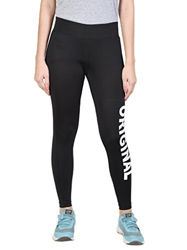 Onesport Women's Polyester Tights (ONSP12BL-XL_Black)