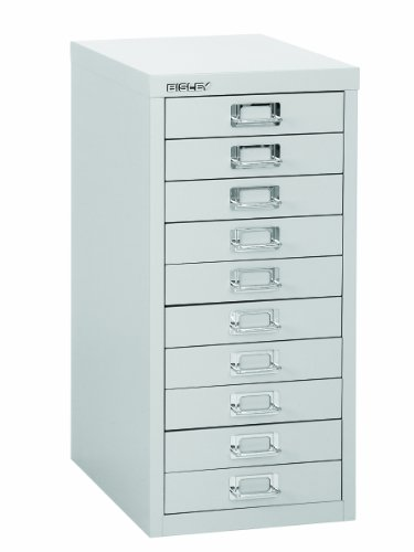 Bargain Bisley Steel H2910NL-073 Desktop Cabinet 10 Drawer H590xW279xD380mm – Grey on Line