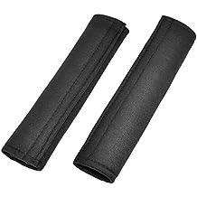 Topways® Almohadillas para cinturón de seguridad Acolchado de los pares por un cinturón de seguridad en el coche para hombreras negras