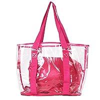JUFANA Womens Bags Fashion Women Clear Beach Bag Waterproof Bag, Multifunctio Shoulder Bag Handbag Messenger Bag (Hot Pink)