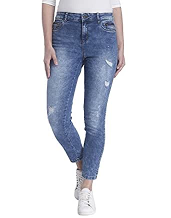 VERO MODA Women's Skinny Jeans (10167865_Medium Blue Denim_x-small)
