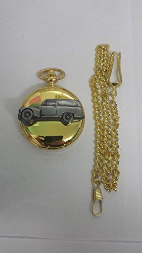 Volvo 445Duett Van ref284Zinn Effekt Emblem auf eine poliert Gold Fall Herren Geschenk Quarz Taschenuhr hergestellt in Sheffield