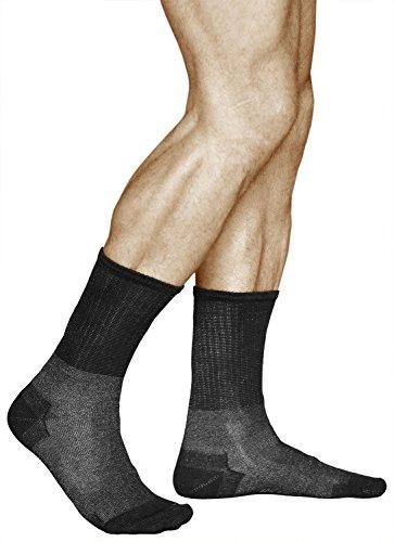 vitsocks Antibakterielle Herren Socken mit 12% SILBER, Diabetiker und Entspannungssocken, Health, 39-41, schwarz