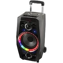 NGS WILD DISCO 80W Negro - Altavoces portátiles (Inalámbrico y alámbrico, Batería, Bluetooth/USB, Negro, Bluetooth, LED)