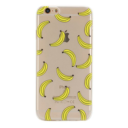 Voguecase® Per Apple iPhone 6/6S 4.7, Custodia Silicone Morbido Flessibile TPU Custodia Case Cover Protettivo Skin Caso (unicorno 02) Con Stilo Penna banane 02