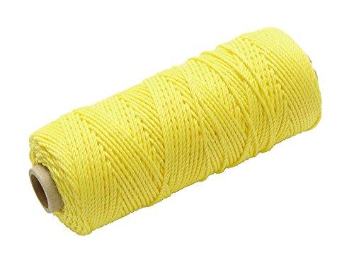 Faithfull - Hilo de replanteo de alta visibilidad (nailon, 105m), color amarillo
