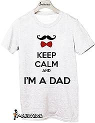 T-Shirteria - Camiseta para regalo del día del Padre, todas las tallas, modelo papá con texto en inglés blanco Talla:XXL