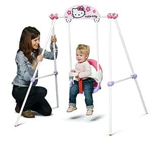 Smoby - 310227 - Jeu de Plein Air - Balançoire - Portique Métal Baby Swing