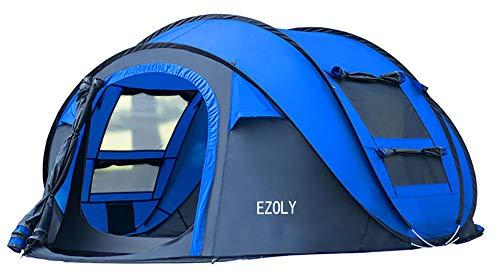 EZOLY 4 Personen Pop up Zelt für Camping Outdoor Automatische Set Instant Zelt Familie Werfen Pop up Zelt Blau