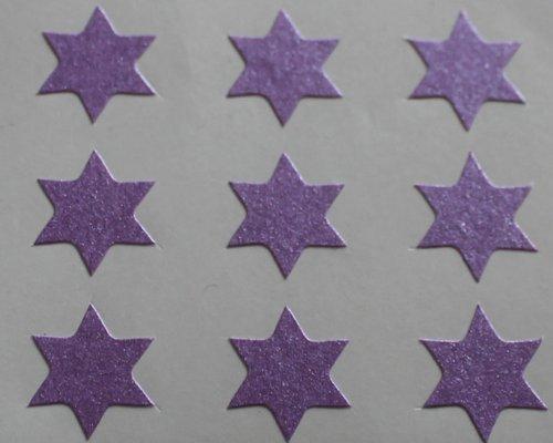 150 Etiquetas, 10mm Forma De Estrella, Púrpura, Pegatinas Autoadhesivas, Minilabel Formas