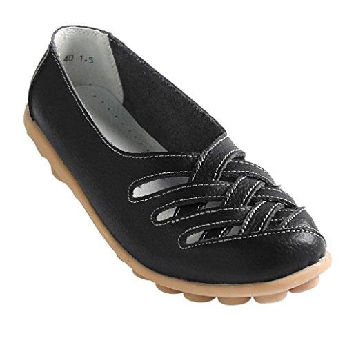 Kunsto Ballerines Femme Flats Noir