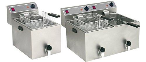 Gam Gastro Doppel Friteuse Ft 99v 6500 Watt Edelstahl 230 Volt Neu