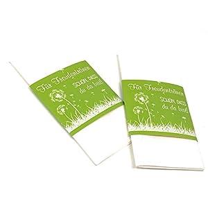 Banderolen für Freudentränen, 50 Stück, Banderolen für Taschentücher, Freudentränenbanderolen, Hochzeitsdeko, Kirchenheft, Gastgeschenk Hochzeit