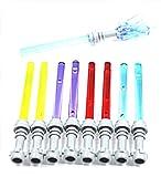 LEGO Star Wars - 8 Laserschwerter - je 2 in blau, grün, rot, purple + 1 Zepter