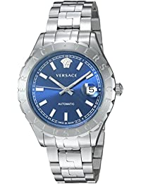 Versace Men's 'Hellenyium' Swiss Automatic Stainless Steel Casual Watch, Color:Silver-Toned (Model: VZI030017)