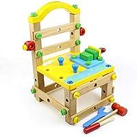 SU Silla de desmontaje para niños, Bloques de construcción, Juguetes, de Madera,