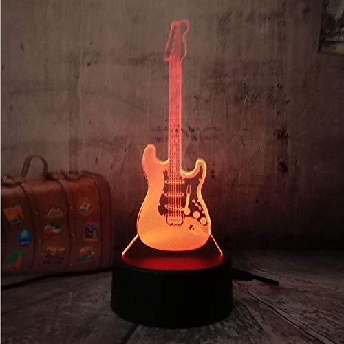 Elektrische musik bass 3D LED modell nachtlicht tischlampe 7 farbwechsel gradienten USB fernbedienung licht beste geschenk