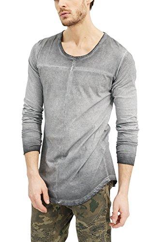 trueprodigy Casual Marca Camiseta Manga Larga para Hombre Basico Ropa Retro Vintage Rock Vestir Moda Cuello Redondo Slim fit Designer Fashion Shirt