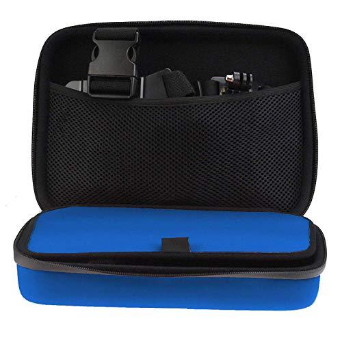 Navitech - Blu Custodia per videocamere d\'azione Compatibile con Crosstour CT9000  SENDOW 4K Action Camera   Actionpro X7 Action Camera