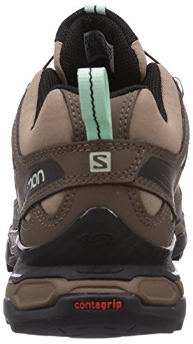 Salomon X Ultra LTR GTX Damen Trekking &Wanderhalbschuhe Braun (Shrew/Burro/Igloo Blue)