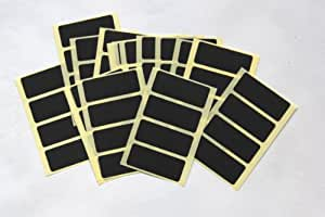 80 Black Stickers - Sticky Coloured Self Adhesive Labels for Colour Coding