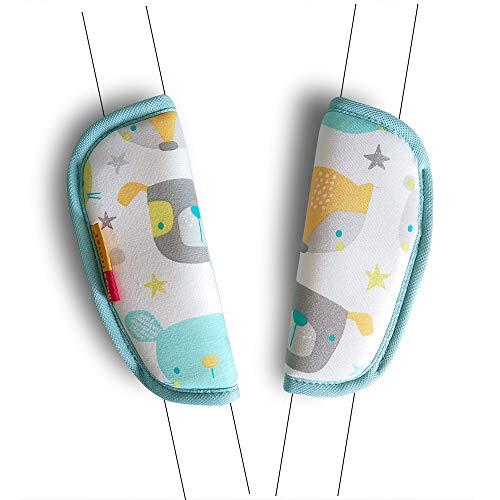 2 Piezas Cubiertas de la Correa del Asiento de Coche del Bebé Cochecito Universal Cojín del Cinturón de Seguridad Para Recién Nacidos (Oso)