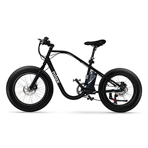 Nilox Erwachsene Ebike E-Bike Doc X3, 25km/H Geschwingkeit, Schwarz, 20″