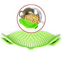 Escurridor de Silicona Ajustable GAINWELL- Escurre alimentos durante la  cocción - Montar 16 cm a 0d01585502de