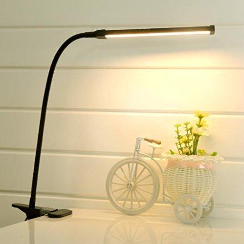 TAIDENG 6W 18LED Clip Licht Typ Schreibtisch Clamp Lampe Dimmen Leseauge USB Lampen Tischleuchten Dimmbare 2 Beleuchtung Farben, Black -