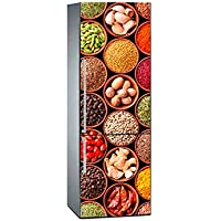 Oedim Vinilo para Frigorífico Verduras Legumbres Colores 185 x 60 cm | Adhesivo Resistente y de Fácil Aplicación | Pegatina Adhesiva Decorativa de Diseño Elegante