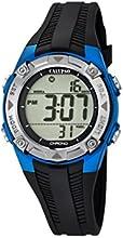 calypso-orologio Digital Unisex (con pantalla LCD digital y correa de plástico, color negro, 5K5685
