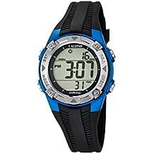 Calypso - Reloj digital unisex, con pantalla LCD digital y correa de plástico, color negro, 5K5685