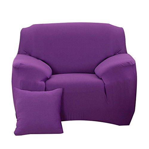 fanjow Farbe Stretch Arm Elastic Sessel Bettüberwurf Polyester Spandex Stoff, Stretch Schonbezug für Stuhl, Liebesschaukel Sofa ohne Kissen, violett, 1-seat Chair (Arm-stuhl-seat-kissen)