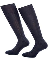 Bruce Field - Chaussettes hautes homme en fil d Ecosse 100% coton 10b02f72f58