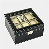 Yhjklm Jewelry Organizer Upscale PU Leather Watch Collection Box Exquisite Household Business Watch Storage Box Jewelry Box