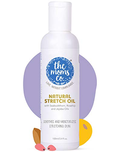 The Moms Co. Natural Stretch Oil, 7 in 1 Natural Bio Oil – Clinically Proven Formula – Australia-Certified Toxin-Free and Mineral-Oil-Free Elasticity Belly Oil 100 ml (Pack of 1 (100 ml))