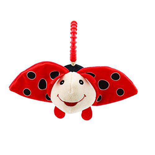 Kinderwagen Spielzeug, Isuper Kleinkind Autositz Anhänger Puzzle Spielzeug für Babys und Kleinkinder Plüschtier Spielzeug (Käfer)