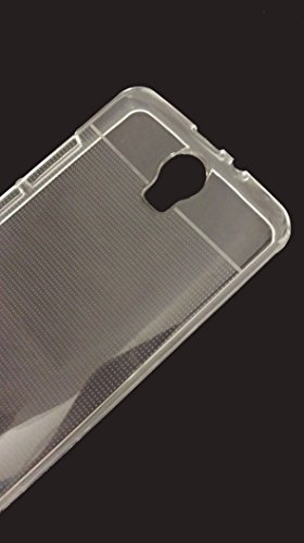 SDO Dotted Finish Ultra Thin Silicone Soft Case Back Cover for Micromax Canvas Juice 2 AQ5001 - Transparent