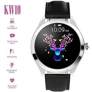 FBLWT Smartwatches Reloj Inteligente para Mujer Kw10 Color Ip68 Señoras Rastreador De Fitness Pantalla Táctil Redonda 11