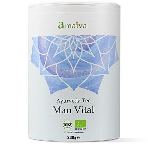 'Man Vital' 230g Ayurveda Männer-Tee Bio, ayurvedischer Kräutertee speziell für den Mann (mit...