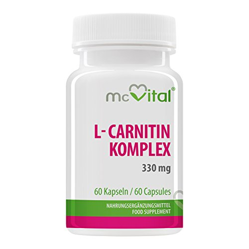 *L- Carnitin Kapseln – L- Carnitin- L- Tartrat – 330mg – 60 Kapseln – Fatburner – Bikinifigur – Muskelaufbau*