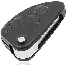 3Botón Flip Carcasa para llave de repuesto para Alfa Romeo 147156166GT Llavero con mando a distancia