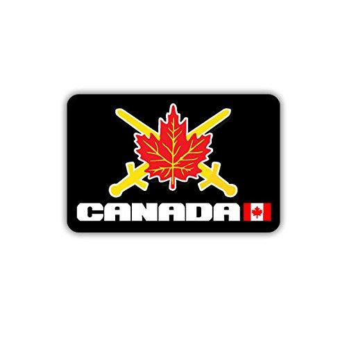 Aufkleber / Sticker - Kanadische Armee Militär Abzeichen Schwerter Ahornblatt 7x5cm #A1731